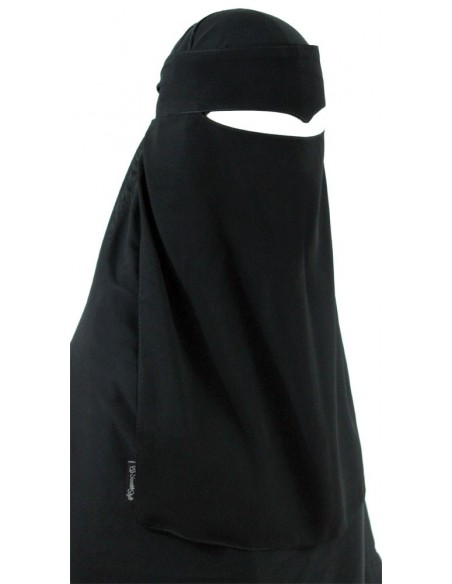 One Piece Widow's Peak Niqab (Black)