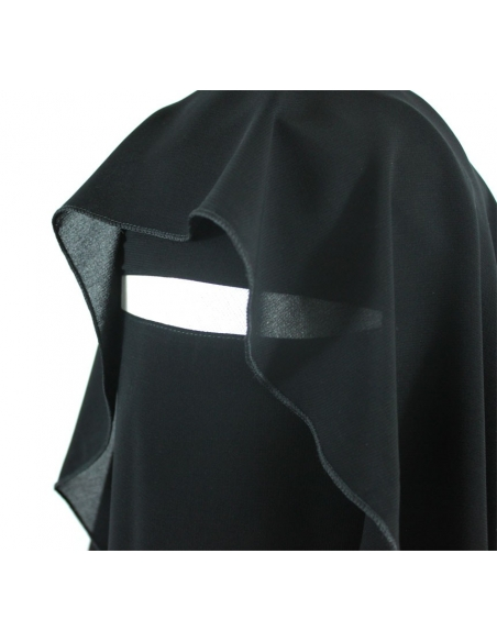 Extra Long Butterfly Niqab (Black)
