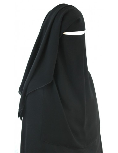 Three Piece Niqab (Black)