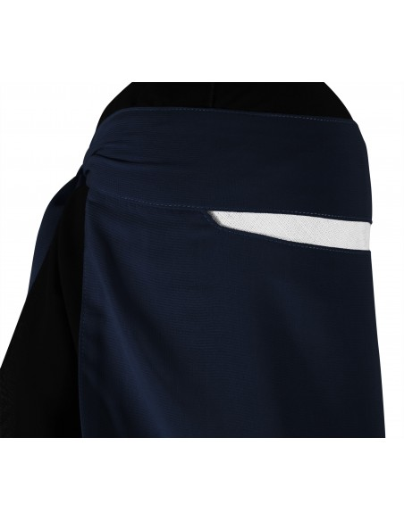 Narrow No-Pinch One Piece Niqab (Navy Blue)