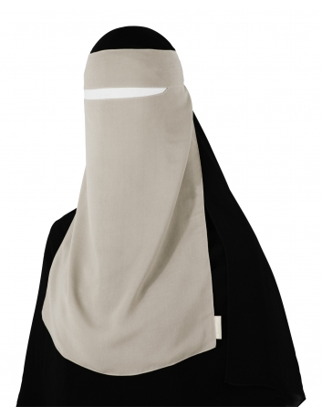 Narrow No-Pinch One Piece Niqab (Sahara)