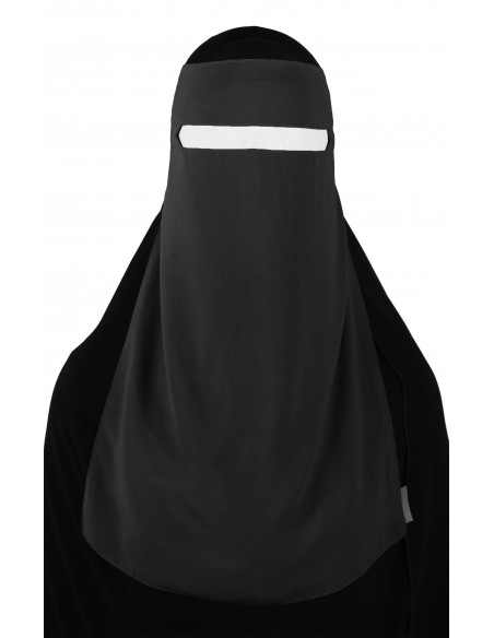 No-Pinch One Piece Niqab (Dark Grey)