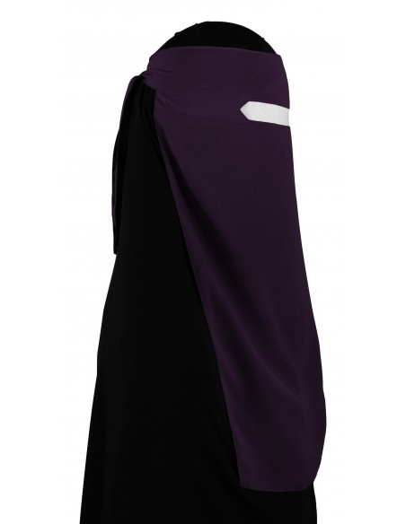 No-Pinch One Piece Niqab (Eggplant)