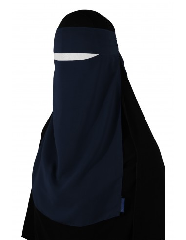 Pull-Down One Piece Niqab (Navy Blue)