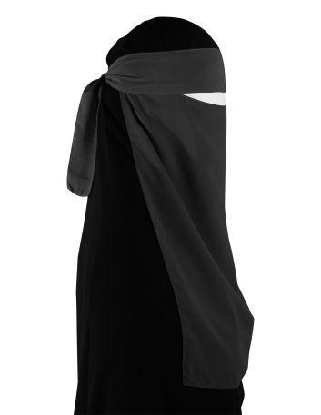 Pull-Down One Piece Niqab (Evergreen)