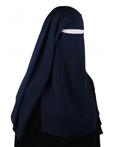 Two Piece Niqab (Navy Blue)