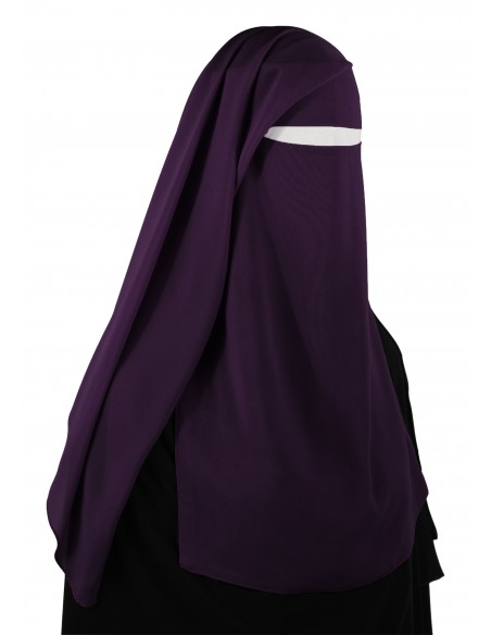 Two Piece Niqab (Eggplant)