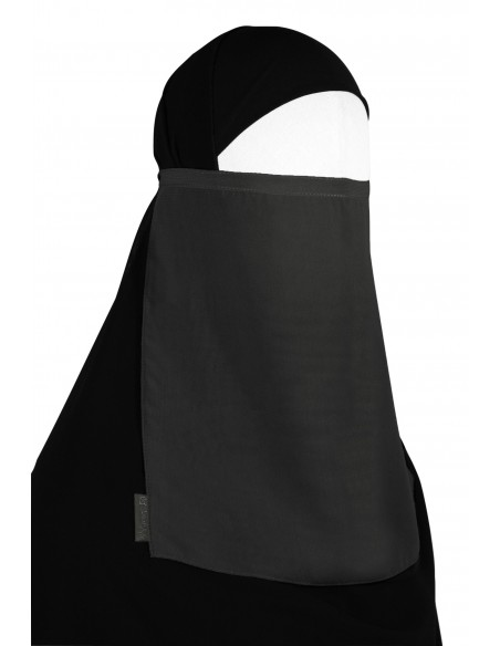 Tying Half Niqab (Dark Grey)