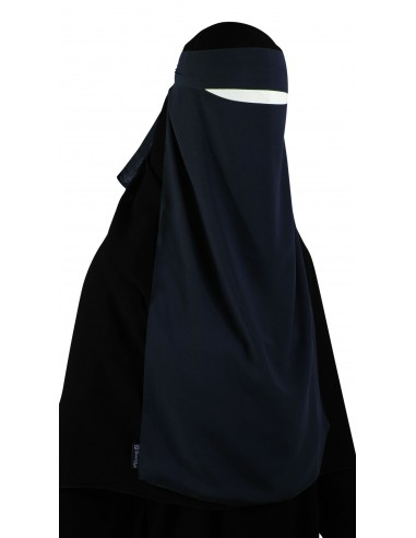 Long One Piece Niqab (Navy Blue)