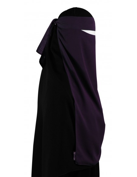Long One Piece Niqab (Eggplant)