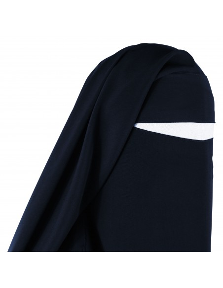 Extra Long Diamond Niqab (Navy Blue)
