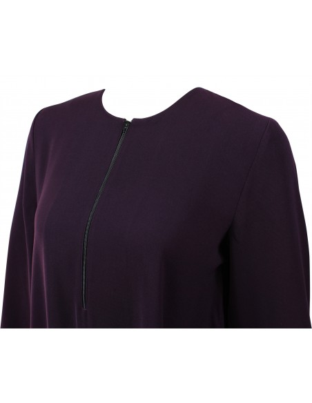 Essentials Closed Abaya - SLIM  (Eggplant)