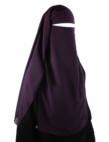 Long Two Piece Niqab (Eggplant)