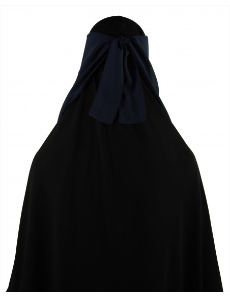 Long Two Piece Niqab (Navy Blue)