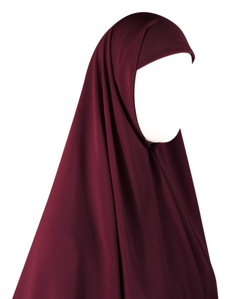 Essential Square Hijab - Large (Burgundy)