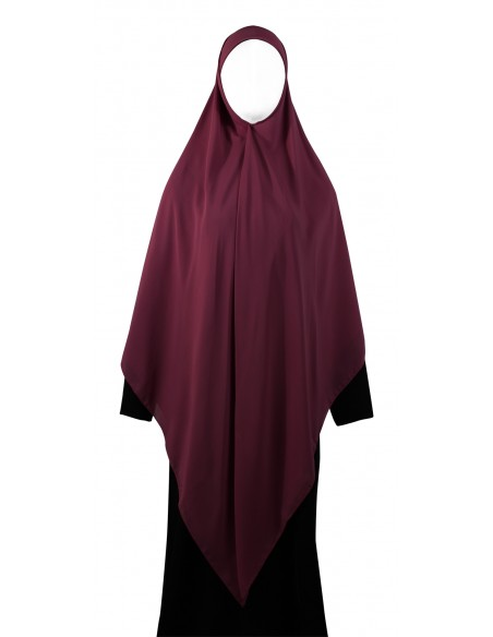 Essential Square Hijab - XL (Burgundy)