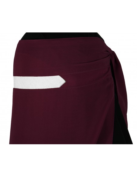 No-Pinch One Piece Niqab (Burgundy)