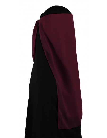 Two Piece Niqab (Burgundy)