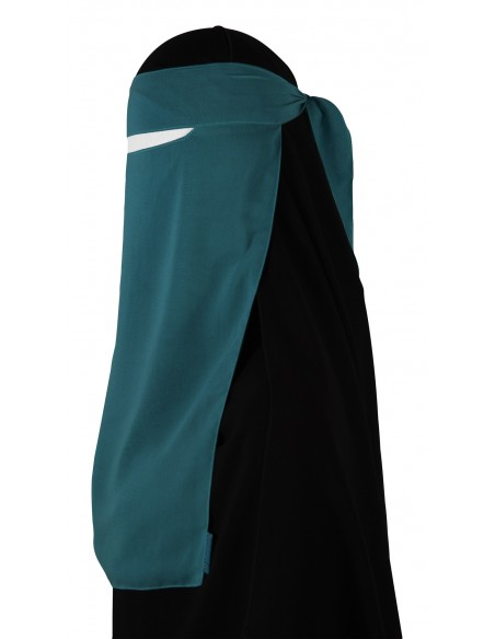 Narrow No-Pinch One Piece Niqab (Teal)