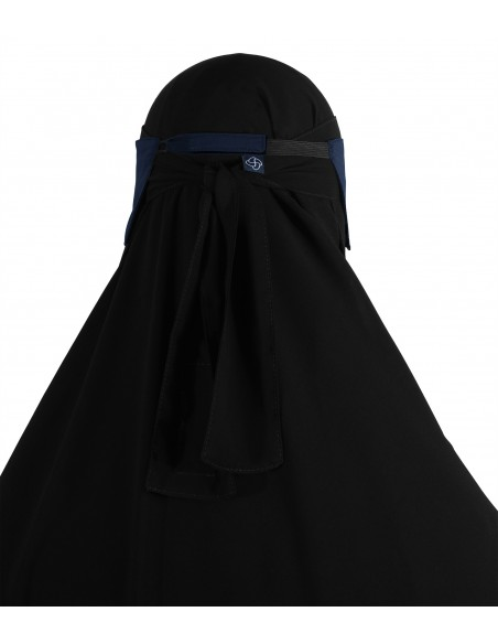 Adjustable Niqab Flap (Navy Blue)