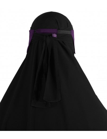 Adjustable Niqab Flap (Eggplant)