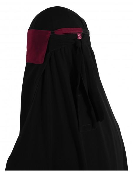 Adjustable Niqab Flap (Burgundy)