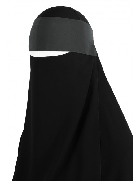 Adjustable Niqab Flap (Dark Grey)