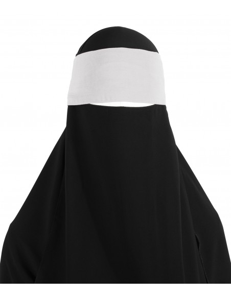 Adjustable Niqab Flap (White)
