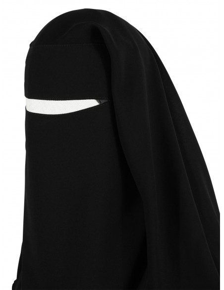 Two Layer Snapp Niqab (Black)