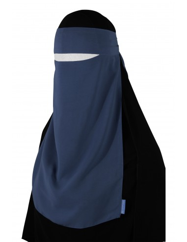Pull-Down One Piece Niqab (Ice Blue)