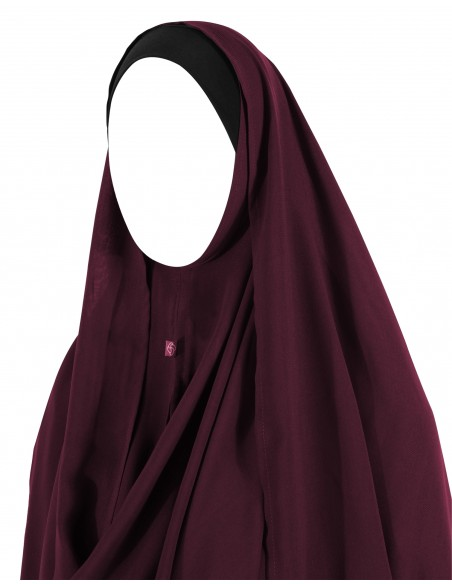 Hooded Wrap Hijab (Burgundy)