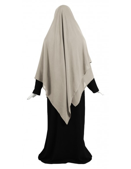 Hooded Wrap Hijab (Sahara) - Wrapped Loosely