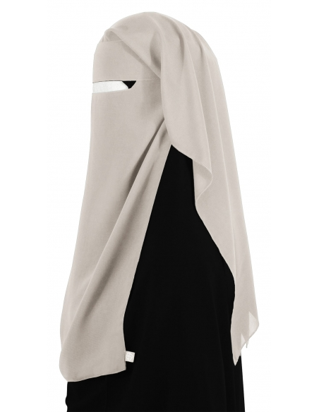 Narrow No-Pinch Two Piece Niqab (Sahara)