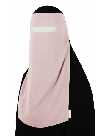 No-Pinch One Piece Niqab (Creamy Peach)