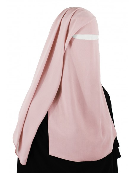Two Piece Niqab (Creamy Peach)