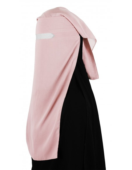 No-Pinch Two Piece Niqab (Creamy Peach)
