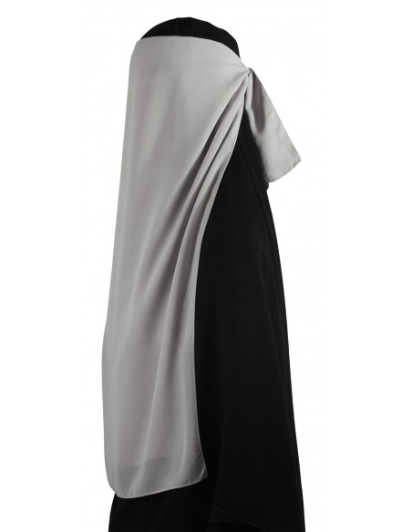 Long Two Piece Niqab (Smoke)
