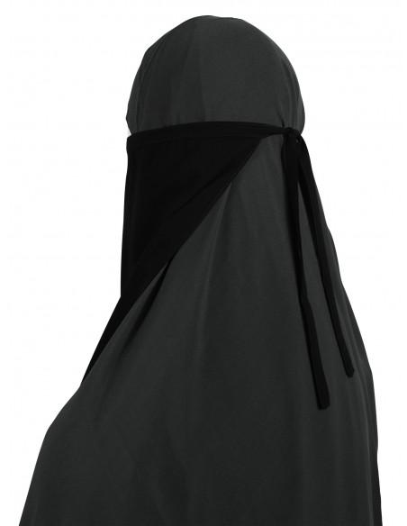 Long Tying Half Niqab (Black)