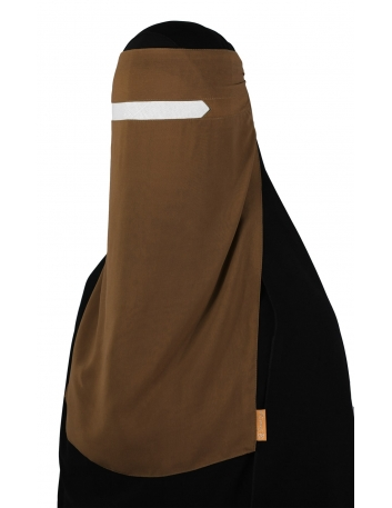 No-Pinch One Piece Niqab (Caramel)