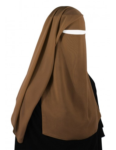 Two Piece Niqab (Caramel)