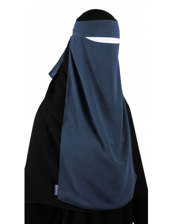 Long One Piece Niqab (Steel Blue)