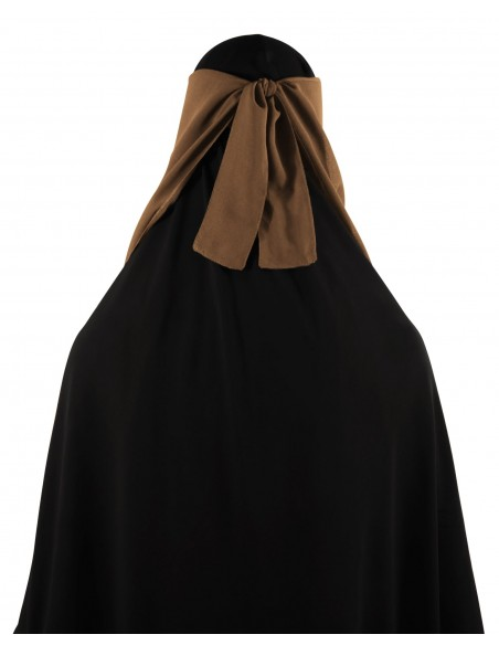 Long Two Piece Niqab (Caramel)