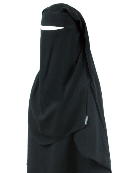 Extra Long Diamond Niqab (Black)