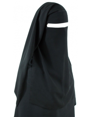 No-Pinch Two Piece Niqab (Black)