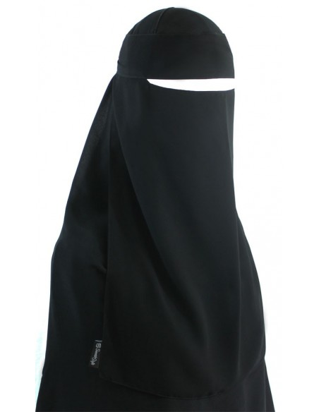 Narrow No-Pinch One Piece Niqab (Black)