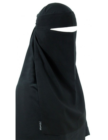 Pull-Down One Piece Niqab (Black)