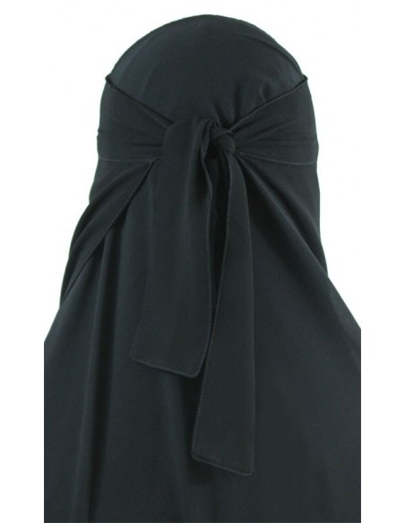 Long One Piece Niqab (Black)