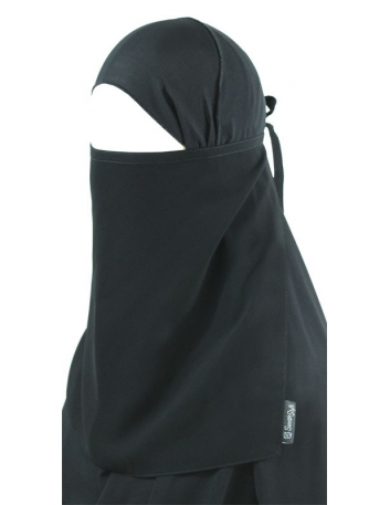 Tying Half Niqab (Black)