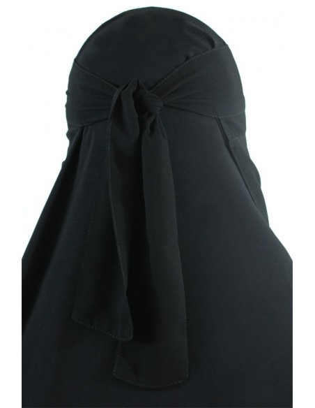 No-Pinch One Piece Niqab (Black)