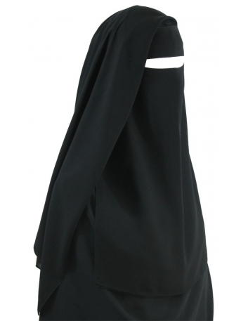 Two Piece Niqab (Black)